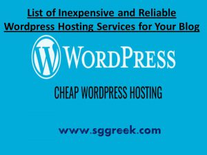 Wordpress Hosting Services for Your Blog