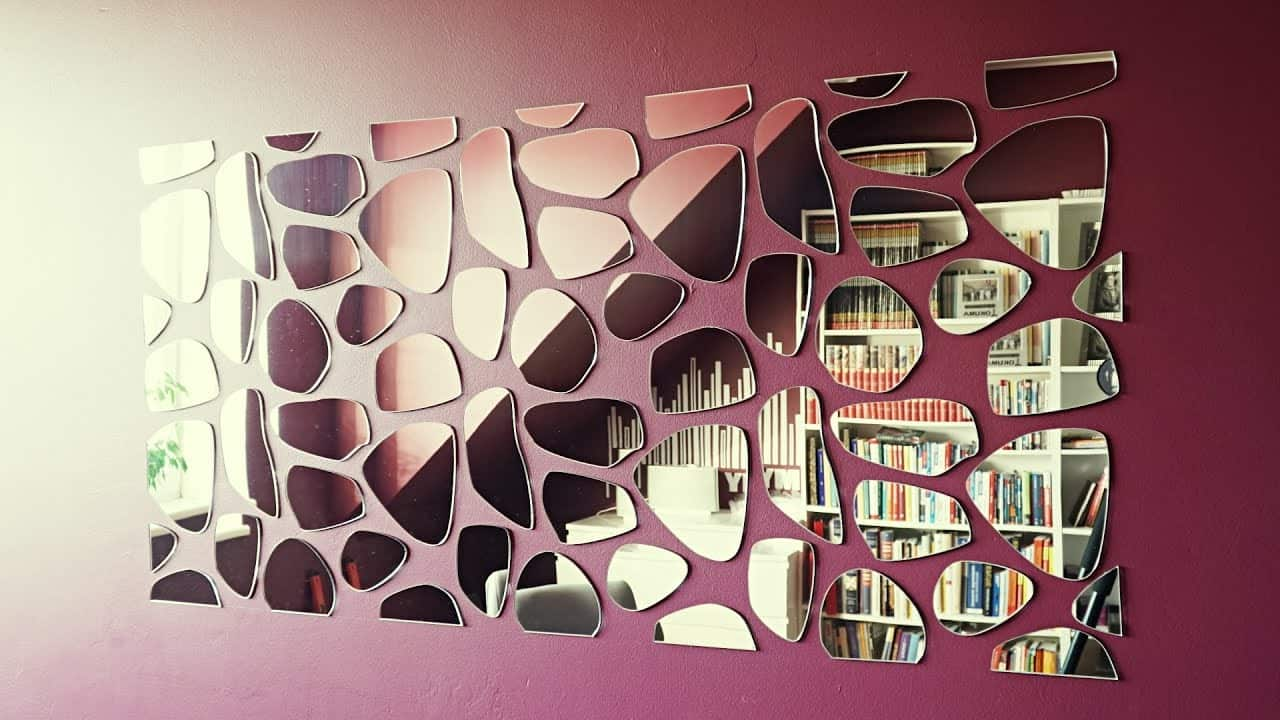Modern And Bright Interior Design Themes With Decorative Mirrors