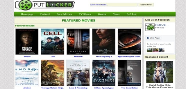 Best Sites Like Putlocker.ch 2019 – Top Alternatives to Watch Movies Online in Mobile
