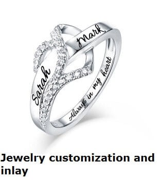 Jewelry customization and inlay