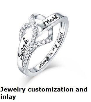 Jewelry customization and inlay