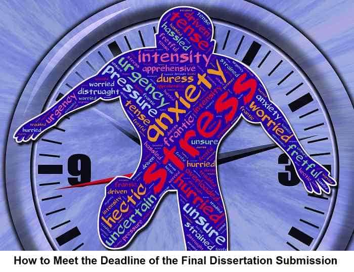 How to Meet the Deadline of the Final Dissertation Submission