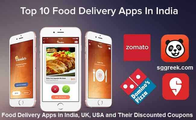 Top Food Delivery Apps in India, UK, USA and Their Discounted Coupons
