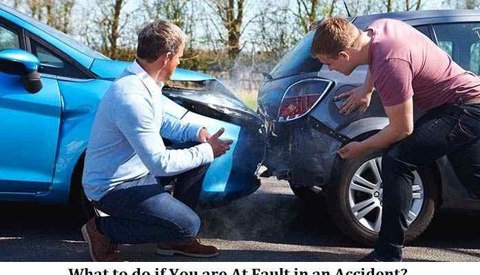 What to do if You are At Fault in an Accident