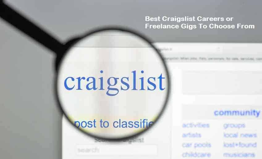Best Craigslist Careers or Freelance Gigs To Choose From