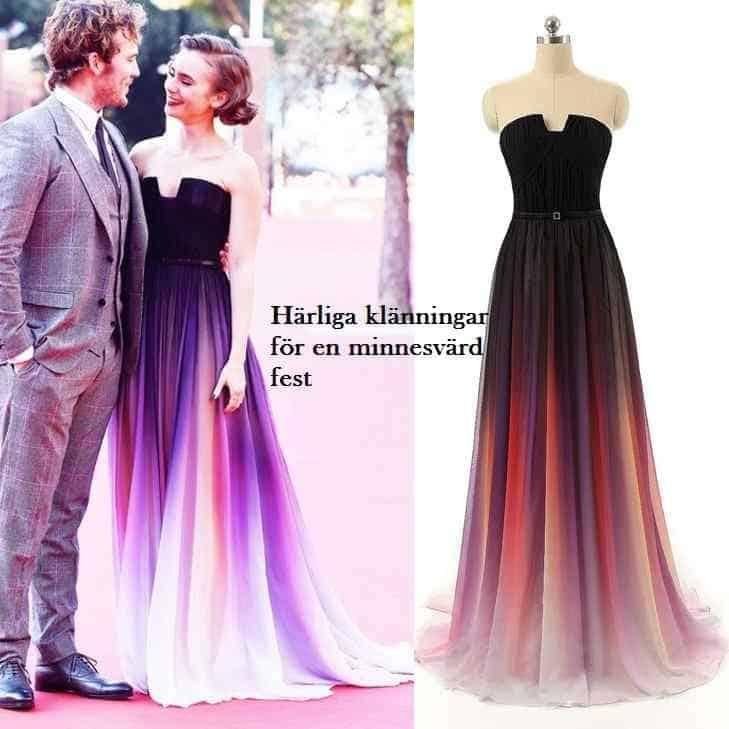 Härliga klänningar för en minnesvärd fest