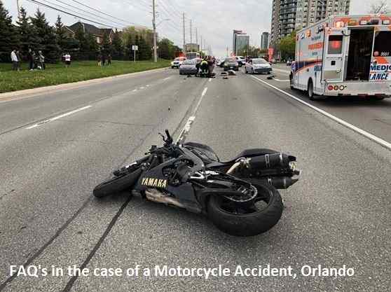 FAQ's in the case of a Motorcycle Accident, Orlando
